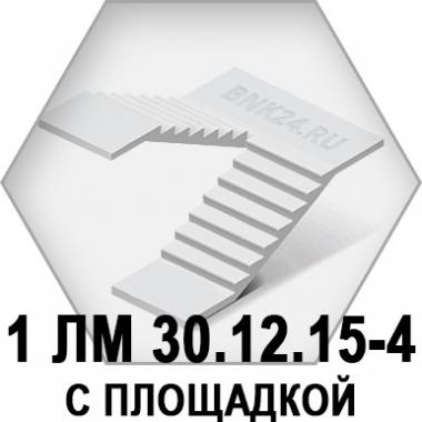 Лестничный марш 1 ЛМ 30.12.15-4 с площадкой