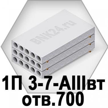 Ребристая плита перекрытия ПРТм 1П 3-7-АIIIвт отв.700