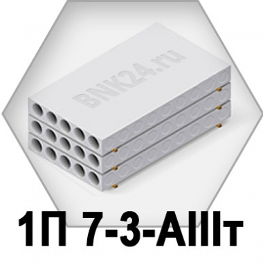 Ребристая плита перекрытия ПРТм 1П 7-3-АIIIт