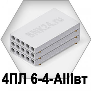 Ребристая плита перекрытия ПРТм 4ПЛ 6-4-АIIIвт
