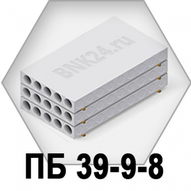 Плита перекрытия ПБ 39-9-8
